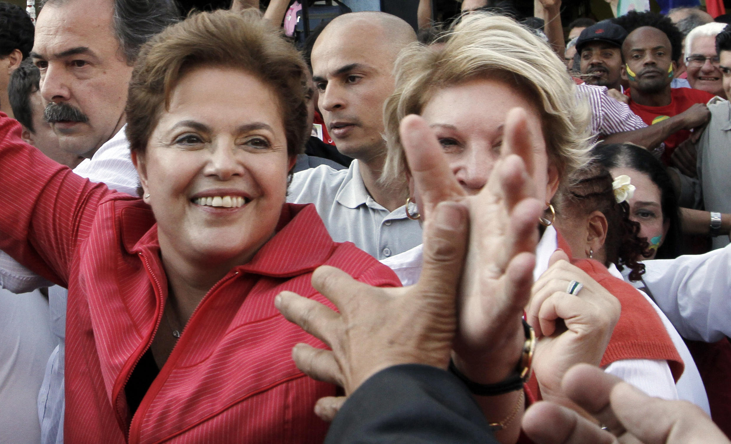 A candidata do PT, Dilma Rousseff .
