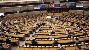 Photo du Parlement européen à Bruxelles, le 16 septembre 2020.(illustration)