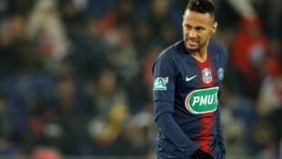 Neymar durante o jogo contra o Strasbourg pela Copa da França - 23/01/19.