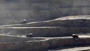 La mine de cuivre à ciel ouvert de Chuquicamata, au Chili.