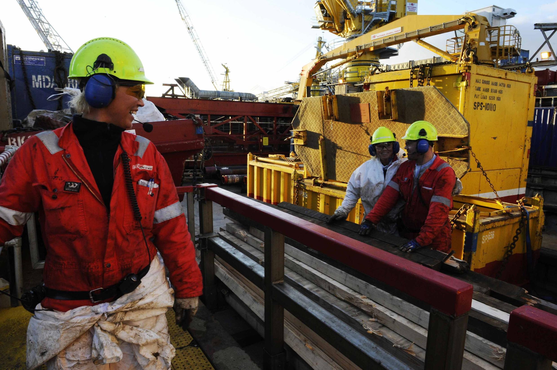 Une plateforme pétrolière en Norvège. C'est l'or noir qui a contribué à attirer les expatriés dans ce pays en 2016.