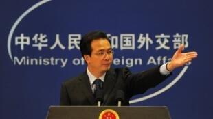 Le porte-parole du ministère chinois des Affaires étrangères, Hong Lei.