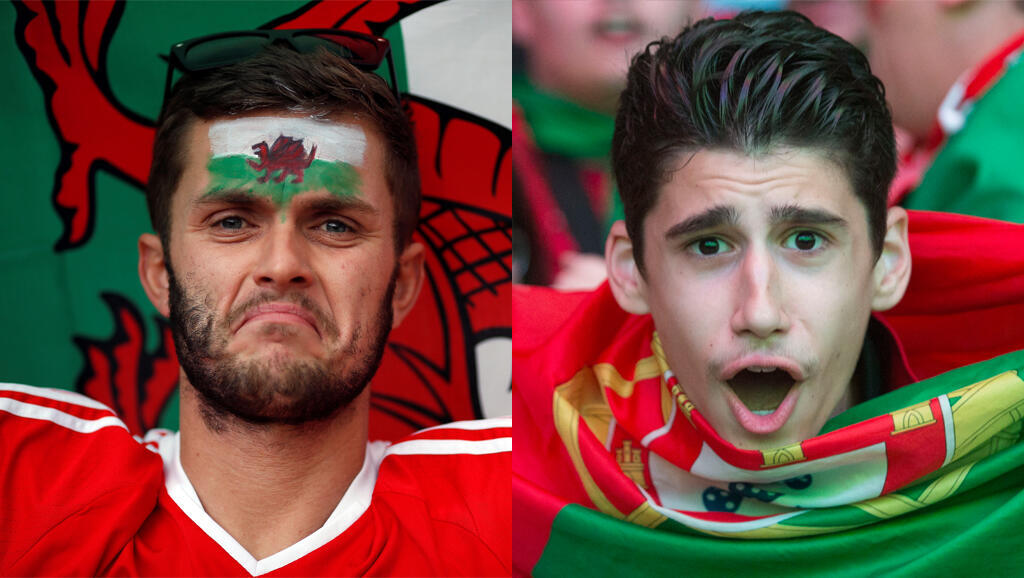 Les supporters du Pays de Galles et du Portugal sont prêts pour les demi-finales.