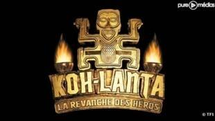 Logo do reality show francês Koh-Lanta, produzido e transmitido pela rede de televisão TF1.