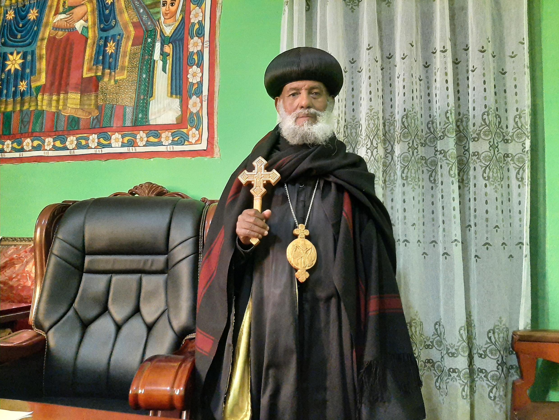 Abune Isaias, patriarche de Mekele, dans la région du Tigré, en Ethiopie, le 24/05/2021.