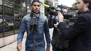 Evaeverson Lemos da Silva Brandao leaves a hearing at the French Football Federation over his assault on Thiago Motta