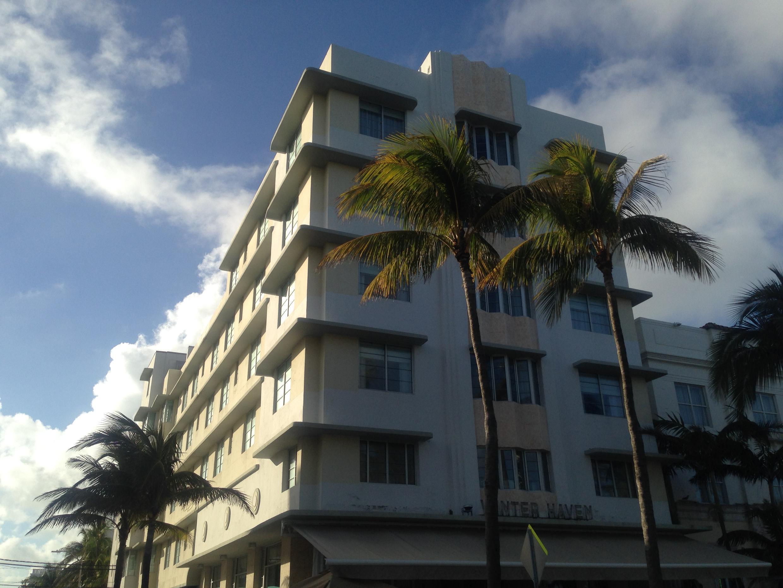 Le Winter Haven sur Ocean Drive. Miami South Beach.