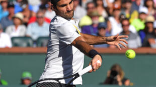 Roger Federer is bidding for a record sixth title at the Indian Wells Masters.