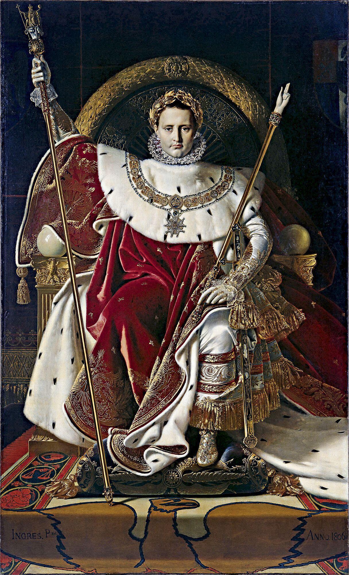 Napoléon dans ses vêtements sacrés