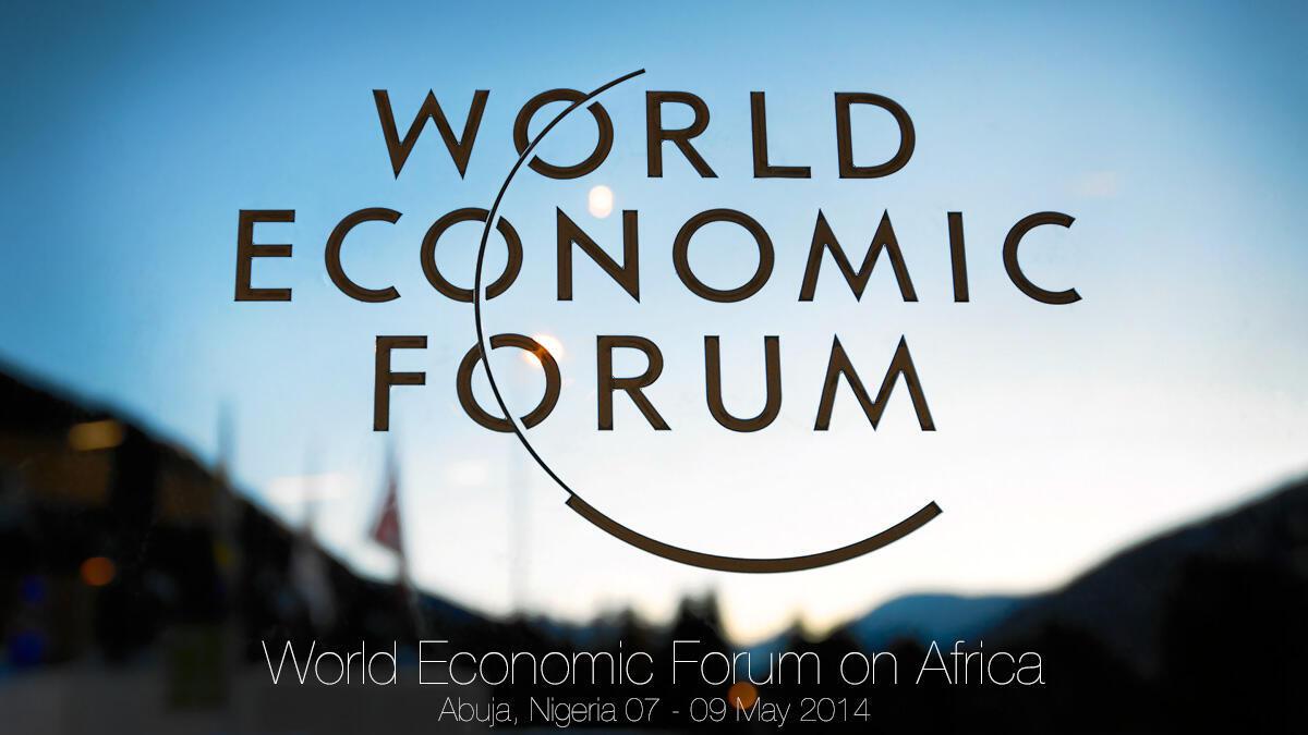 Logo du World Economic Forum à Abuja, Nigeria.