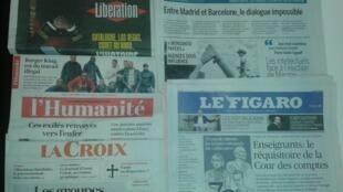 Imprensa francesa do dia 5 de Outubro de 2017