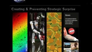 Capture d'écran du site internet de l'Agence de recherche et développement du département américain de la Défense, la Darpa.