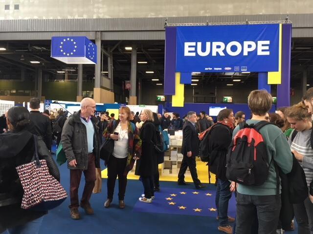 Estande da literatura europeia