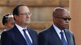 François Hollande and Jacob Zuma, Pretoria, 14 october 2013.