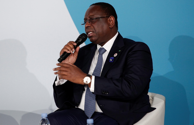 Le président sénégalais Macky Sall au forum de la Paix à Paris le 11 novembre 2018.