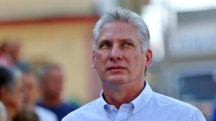 Le président cubain Miguel Díaz-Canel.