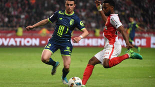 Monaco's Thomas Lemar (right) in action against Lille on Sunday.
