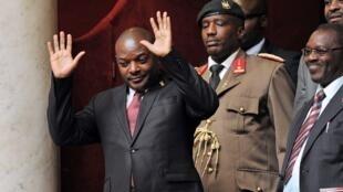Le président burundais, Pierre Nkurunziza, à Paris, le 12 mars 2013.
