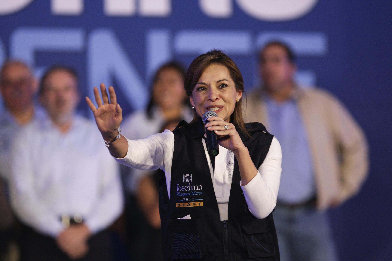 Josefina Vázquez Mota, candidata del Partido Acción Nacional (PAN) a presidente de México en las elecciones de julio de 2012.
