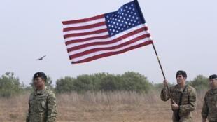 Soldats américains sur la base de Thiès, au Sénégal, lors d'un exercice, le 8 février 2016. (Image d'illustration)