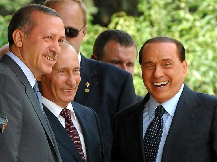 Эрдоган, Путин и Берлускони