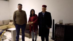 Marwan, Asma et Mohamed Mami, à Tunis le 12 janvier 2021.