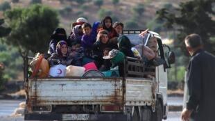 Déplacés syriens à Idleb, le 8 juin 2020.