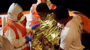 The migrants were allowed to disembark and taken to Lampedusa's reception centre