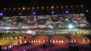 Abertura do 3° Festival  Mundial das Artes Negras em  Dacar (Senegal).