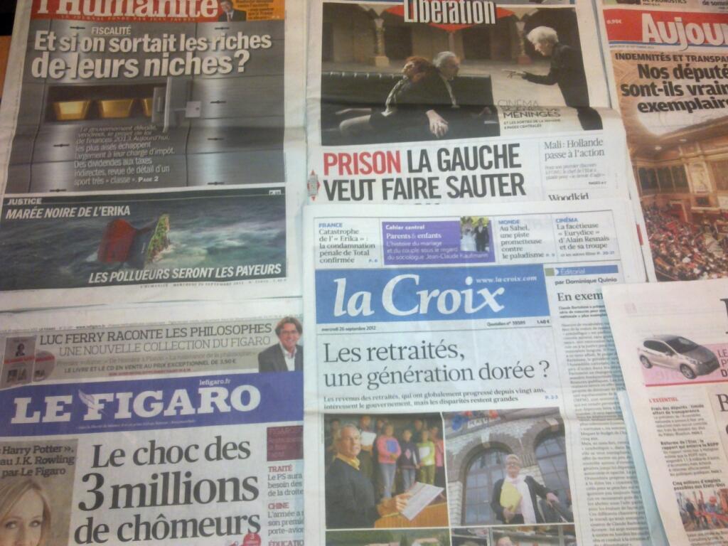 Diários franceses   24/09/2012