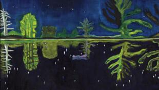 Affiche de l'exposition « Peindre la nuit »