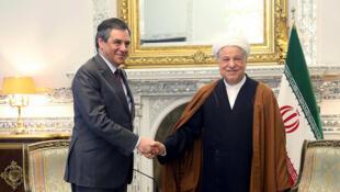 اکبر هاشمی رفسنجانی و فرانسوا فیون