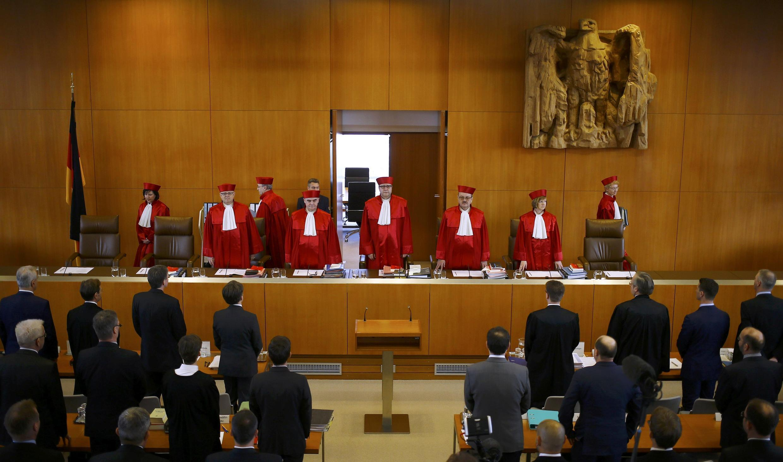 Tòa Bảo Hiến Đức ở Karlsruhe, một định chế đầy quyền lực tại Đức. Một phiên tòa ngày 01/03/2016.