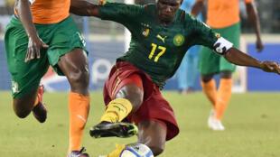 Mchezaji wa Cameroon Stéphane Mbia wakati wa AFCON 2015.