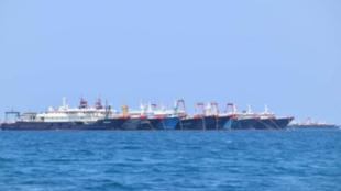 菲律宾政府发布的3月7日相关海域照片