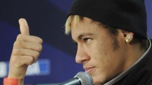 Neymar, atacante do Santos.