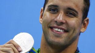 Chad le Clos a remporté la médaille d'argent sur 200 m nage libre.
