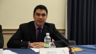 El especialista Manuel Orozco durante la presentación del informe.