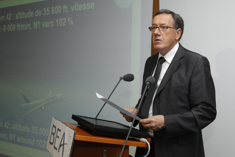 Alain Bouillard, diretor do BEA e responsável pelas investigações do acidente com o voo AF447