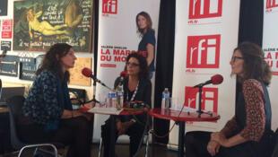 De g. à dr. : Elisabeth Leuvrey, Faouzia Charfi et Valérie Nivelon.