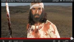 Mahoma, tal como es representado en la película.