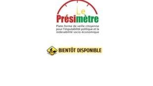 Le site internet du «Présimètre» sera bientôt disponible au Burkina Faso.