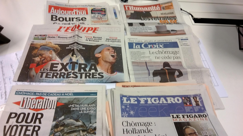 Jornais franceses de 27 de dezembro 2013