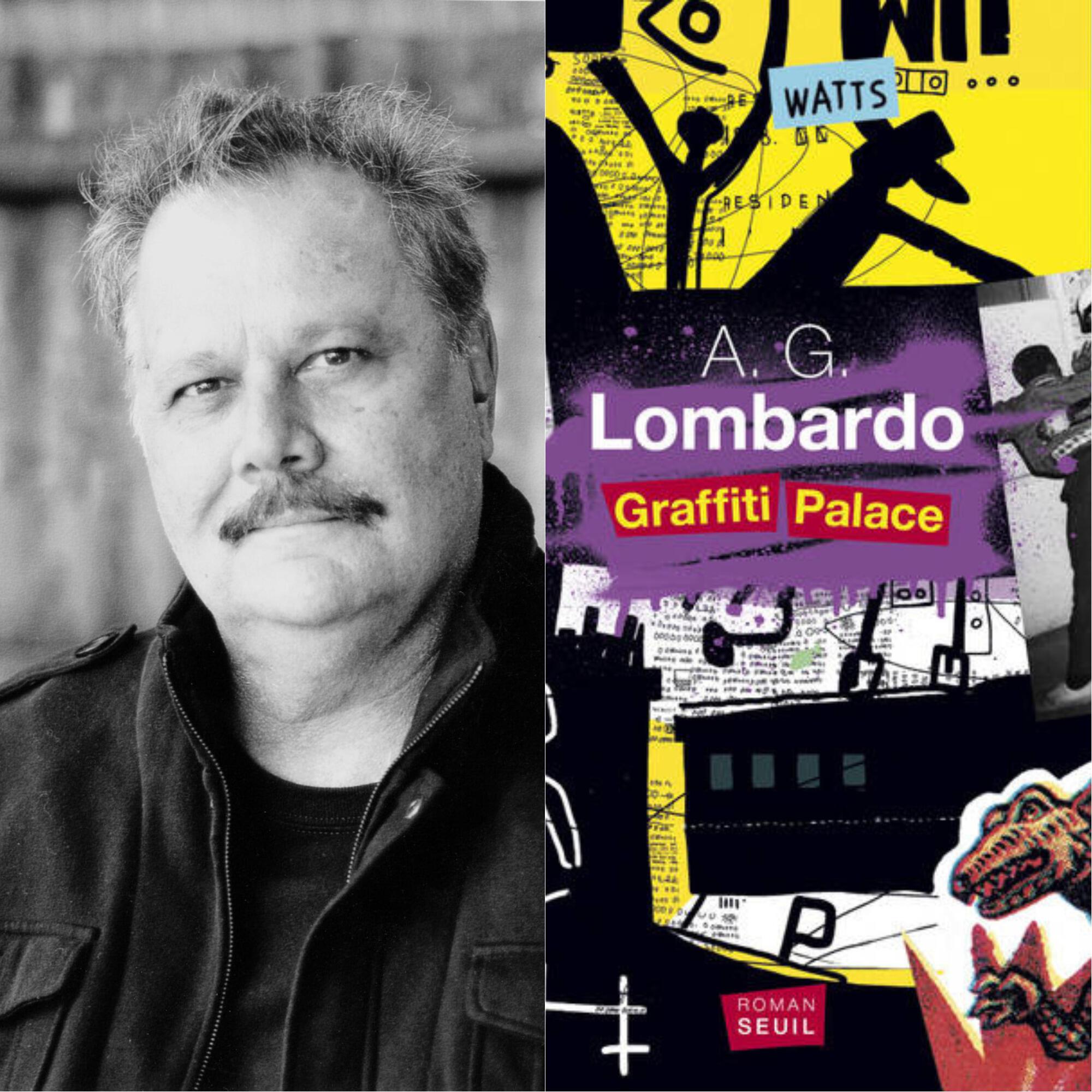 Portrait et couverture du livre d'AG Lombardo Graffiti Palace.
