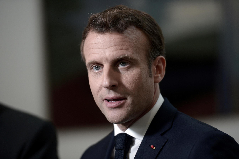 Presidente francês, Macron, em campanha para as europeias de domingo em França