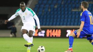 Le Sénégalais Kalidou Koulibaly, lors du match Sénégal-Bosnie du 27 mars 2018 au Havre en France.