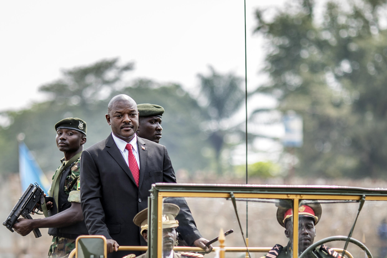 Le président Pierre Nkurunziza lors des célébrations du 53e anniversaire de l'indépendance du Burundi, à Bujumbura le 1er juillet.