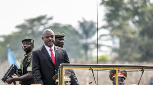 Le président Pierre Nkurunziza lors des célébrations du 53e anniversaire de l'indépendance du Burundi, à Bujumbura le 1 juillet.