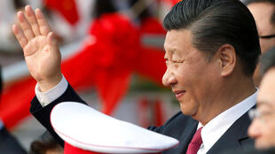 Chủ tịch Trung Quốc Tập Cận Bình trong chuyến viếng thăm Hà Nội. Ảnh ngày 12/11/2017.