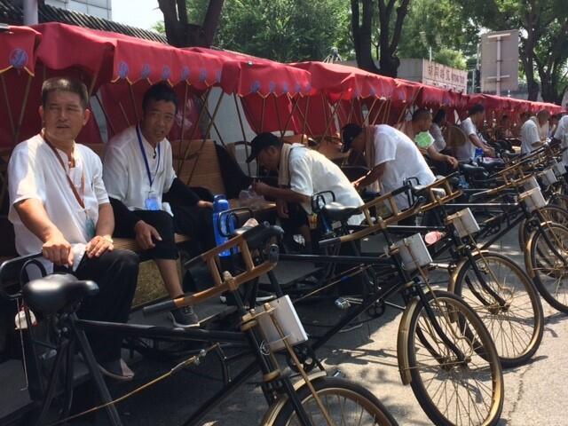 A Pekin, il n'est pas rare de croiser les célèbres «pousse-pousse».